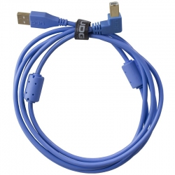 UDG Ultimate Audio Cable USB 2.0 A B Light Blue Angled 1m