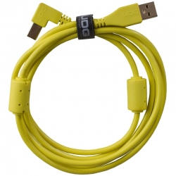 UDG Ultimate Audio Cable USB 2.0 A B Yellow Angled 1m