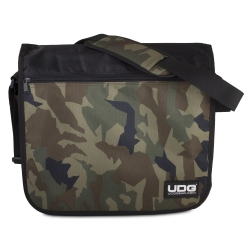 UDG Ultimate CourierBag Black Camo Orange Inside