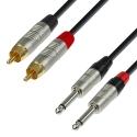 Adam Hall Cable 2 RCA / 2 JACKS 1.5M 4Star