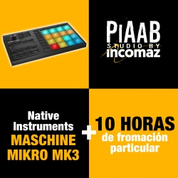 Native Instruments Maschine Mikro MK3 + 10 Horas de formación