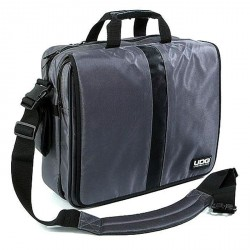 "UDG Courier Bag Deluxe 17"" Steel Grey / Orange Inside"
