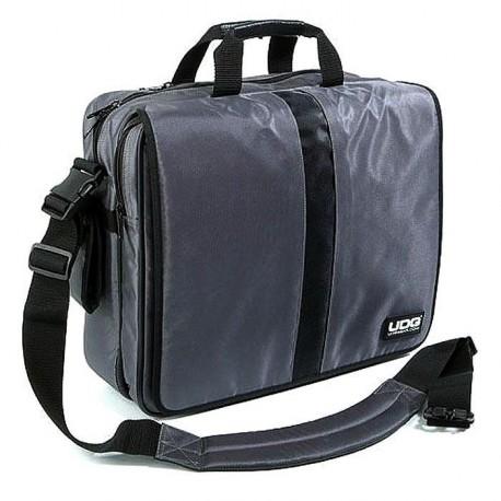 "UDG Courier Bag Deluxe 17"" Steel Grey / Orange Inside"