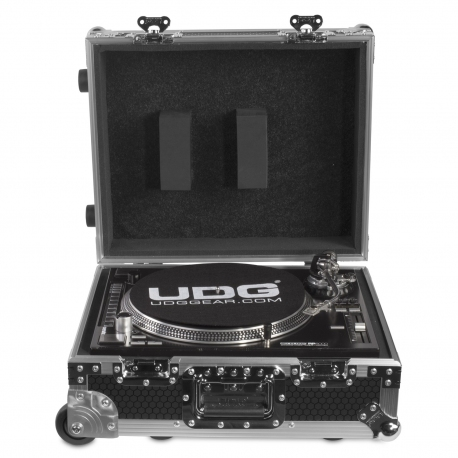 UDG Ultimate Flight Case Multi Format Turntable Silver Plus (Trolley & Wheels)